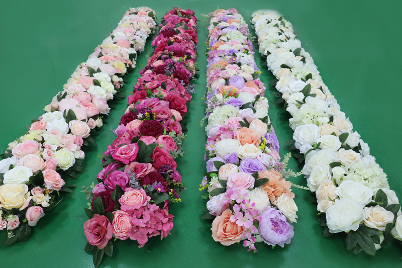 JAROWN Artificial 2M Rose Flower Row Wedding DIY Arched Door Decor Flores Silk Peony Road Cited Fake Flowers Home Party Decoration Maison (9)
