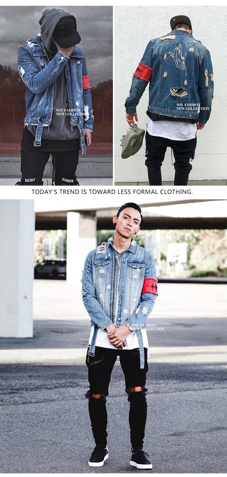 HTB1jm3abeL2gK0jSZFmq6A7iXXaE Men's Jean Jackets Streetwear Hip Hop Bomber Jacket Denim Jacket Men Brand Ripped Denim Jackets Casual Fashion Coat