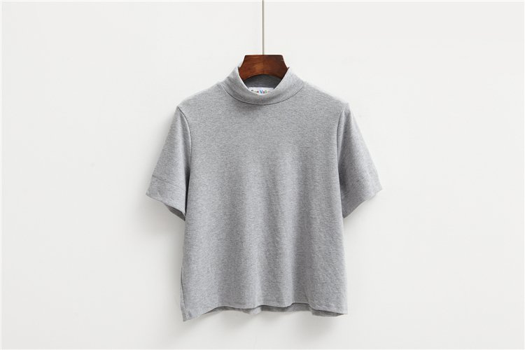 HTB1jm3bLVXXXXXTXVXXq6xXFXXXH - Summer T-Shirt Short Style Casual Stand Collar