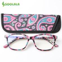 SOOLALA, с принтом, анти-синий светильник, блокирующий фильтр, очки для женщин, защита глаз, компьютерные очки, оптическая оправа, по рецепту