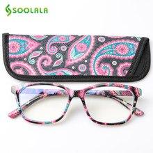 SOOLALA – lunettes filtrantes Anti-lumière bleue, imprimées, Protection des yeux, ordinateur, monture optique, Prescription