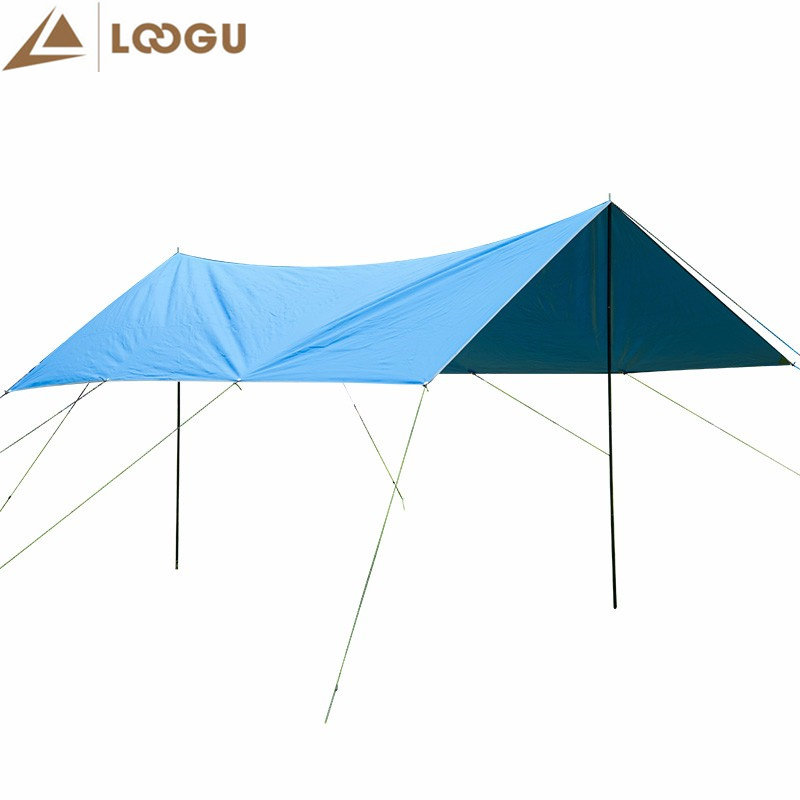3m*4m Outdoor Camping Hiking Awning Sun Shelter Tents 420D Oxford Rainproof Sun Shelter Tents Awning Cover Sun Shelter Tent 8 5 2 4m super large uv waterproof family sun shelter relief outdoor camping tent gazebo beach sun shade travel fishing awning