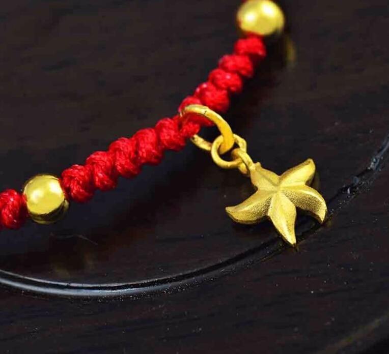 Authentic 24k Yellow Gold Pendant/ Men&Women Five Star Pendant/ 1.1gAuthentic 24k Yellow Gold Pendant/ Men&Women Five Star Pendant/ 1.1g