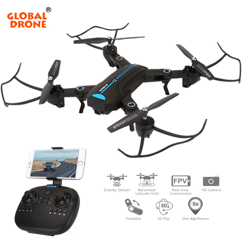 Global Drone A6W RC Helicopter Toys Mini Drone with Camera WiFi FPV Quadcopter Foldable Dron Gift for Kids VS XS809HW E58 global drone with camera hd foldable rc quadcopter altitude hold helicopter wifi fpv dron vs e58