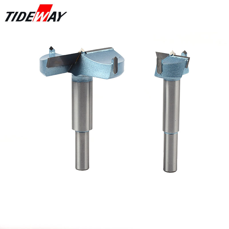 Tideway Extended Forstner Bit Tips Woodworking tools Hole Saw Cutter Hinge Boring Drill Bits Round Shank Tungsten Carbide Cutter