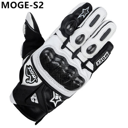 3 Color Available Real Superior Men M L XL XXl Breathable Carbon Fiber Leather Motorcycle Gloves
