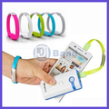 Colorful Micro USB 2.0 Data Charger Wrist Bracelet Cable For Samsung Galaxy S4 S6 Note 4 For Android Smart Phone