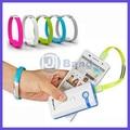 Colorida Micro USB 2.0 de datos pulsera de la muñeca Cable para Samsung Galaxy S4 S6 nota 4 para Android teléfono inteligente