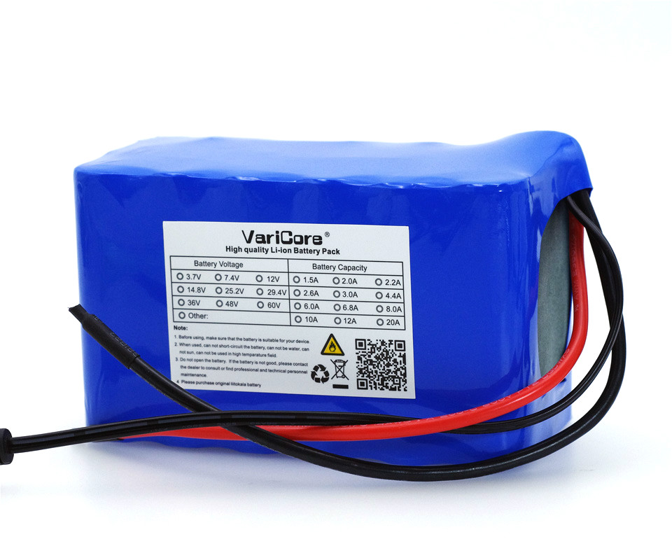 VariCore 24V 6 Ah 7S3P 18650 Battery 29.4 v 6000mAh 250W BMS Protection Electric Bicycle Moped /Electric/Li ion Battery PackVariCore 24V 6 Ah 7S3P 18650 Battery 29.4 v 6000mAh 250W BMS Protection Electric Bicycle Moped /Electric/Li ion Battery Pack