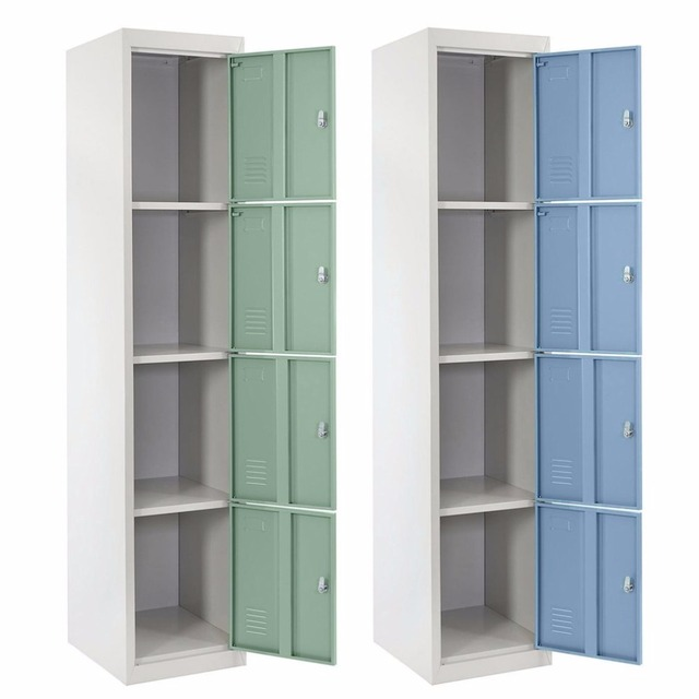 Superbe 4 Doors Dressing Lockers Dismountable Bathroom Storage Cupboard Steel Dorm  Room Wardrobes Saving Space Bedroom Locker