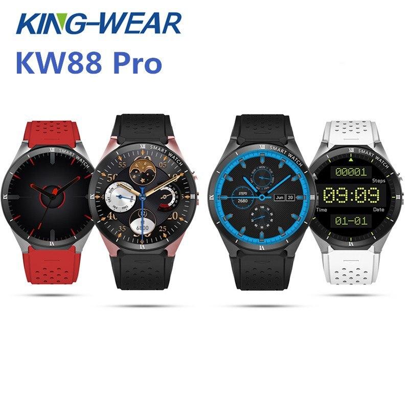 2018 Newest KingWear KW88 Pro 3G Smartwatch Phone 1.39 inch Android 7.0 MTK6580 Quad Core 1.3GHz 1GB RAM 16GB ROM smart watch