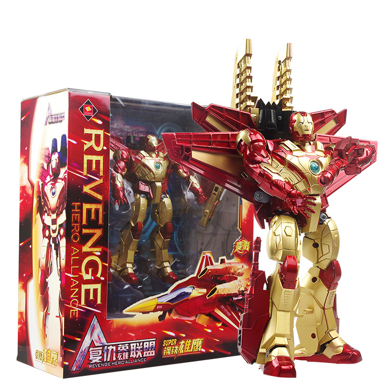 The Avengers Action Figure Iron Man Toys Transformation Dinozord Robot Kid Oyuncak Infinite War Deformation Robot Brinquedos transformation robot the last night age of extinction deluxe class figure dark guard exclusive collectible toys