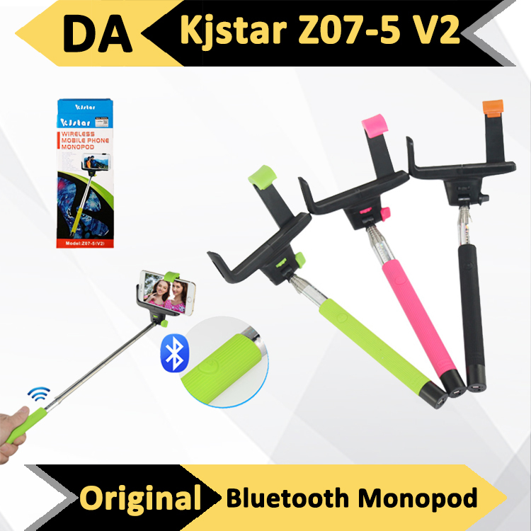 original kjstar z07 5 v2 bluetooth extendable handheld selfie monopod pole st. Black Bedroom Furniture Sets. Home Design Ideas
