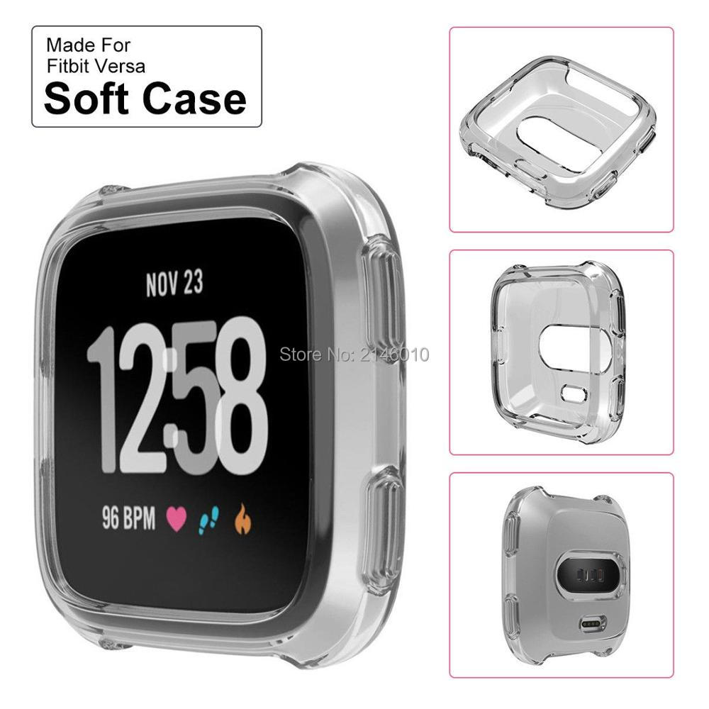 Protective Case Full Body Anti Scratch Silicone Shell Frame Shield For Fitbit Versa