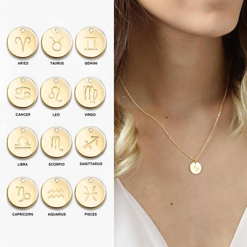 Women's constellation Necklace Necklaces for women Zodiac Necklace Gift Women Zodiac Sign Constellation Charm The Chain Jewelry