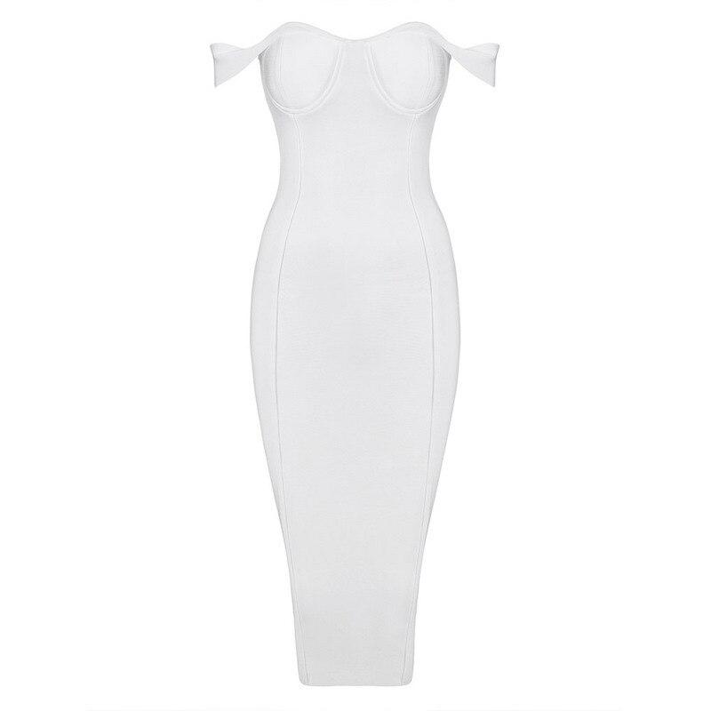 Großhandel 2016 neue beige Schwarz Rot Weiß weg schulter bodycon sexy frauen abend party Promi verband Kleid Kleid + anzug