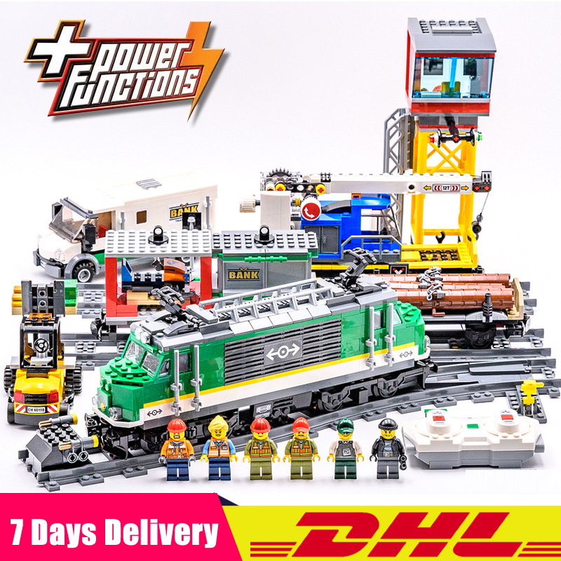 Compatible Legoings 60198 Lepin 02118 City Trains Cargo Train Building Kit Building Blocks Bricks Car Model Toys for Gifts