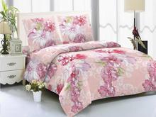 Комплект постельного белья двуспальный-евро Amore Mio, Paris, розовый, с цветами