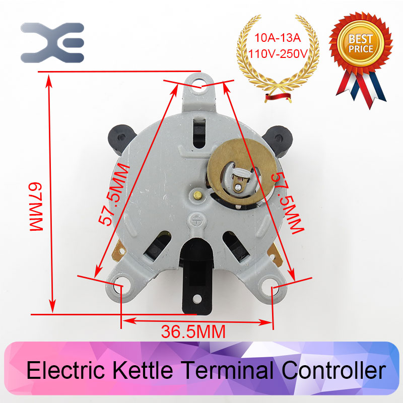 New Kettle Thermostat Unused Spare Parts T125 13A 110-250V NC Terminal Controller  for Electric Kettle EK1705 Made in china replacement ac 250v 13a temperature control kettle thermostat top socket