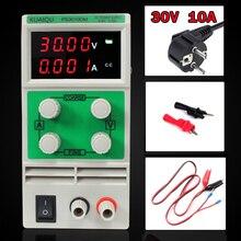 Мини Регулируемый DC Питание, лаборатории Питание, цифровой переменной Напряжение регулятор 30V10A четыре дисплея PS3010DM