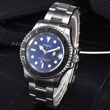 41mm Parnis Blue dial Stainless Steel Sapphire glass Deployment Clasp Newest Hot 21 jewels miyota Automatic movement Mens Watch