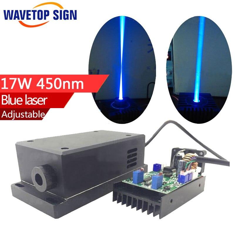 Adjustable focus High Power Laser module 17w 17000mw 450nm Blue laser Sculpture Cutting Engraving machine new laser module 15w 15000 mw high power blue diy carving cutting 450nm engraving machine 445nm 450nm dc 12v i