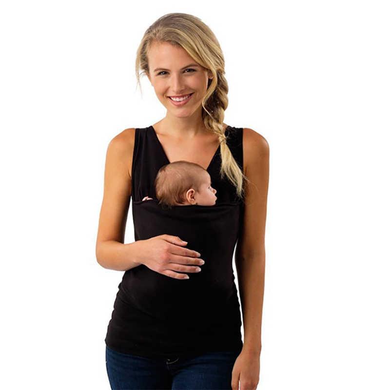 Plus ขนาด S-5XL เด็กเสื้อผ้า Kangaroo เสื้อยืดสำหรับพ่อแม่เด็กสั้นแขนขนาดใหญ่กระเป๋า Multifunction เสื้อยืด