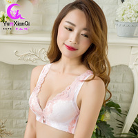 New Lace Bra Thin Summer Vest No Steel Ring Gather To Adjust The Female White Large