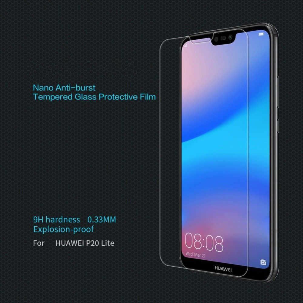 Schutz Glas auf die Für Huawei P20 Lite P20 Pro Gehärtetem Screen Protector 0,26mm 2.5D Rand Glas Für Huawei p20 Lite Film