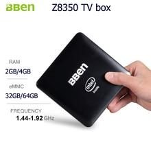 Bben Мини-ПК Окна 10 Intel немой вентилятор ПК мини коробка Intel Quad Core Процессор Z8350 2 г/32 г RAM/ROM Mini PC HDMI Wi-Fi BT4.0 Умные телевизоры коробка