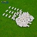 Escala 1:300 coche de plástico ABS blanco para hacer el modelo de arquitectura de la disposición del tren