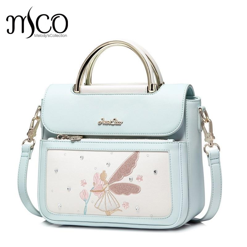 2017 Brand women handbag for women Fairy Tales Embroidery handbags women's pouch bolsas shoulder bag female messenger bags english fairy tales