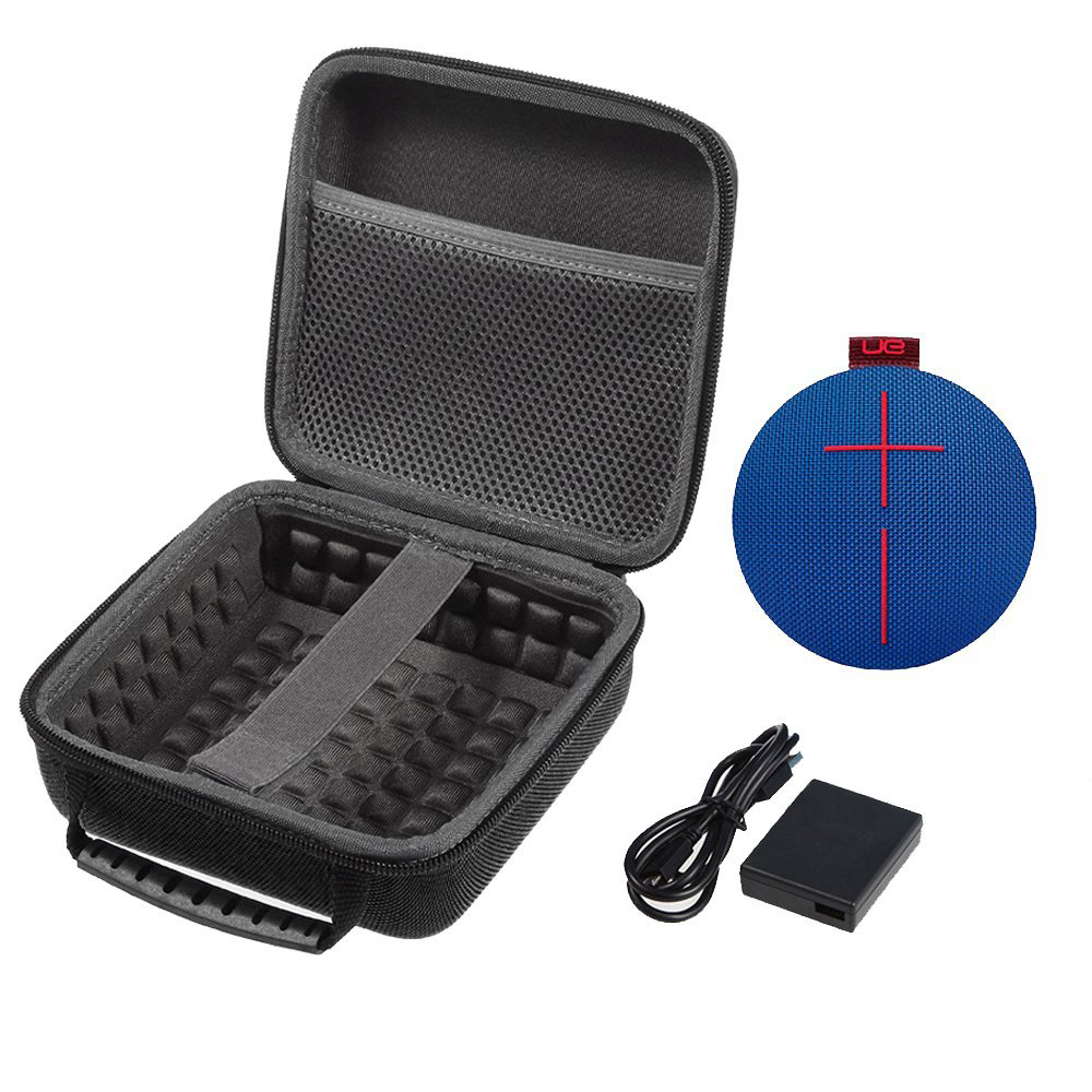 Hard EVA Shockproof Carrying Storage Travel Case Bag Protective Pouch Box For UE ROLL 2 Wireless Bluetooth Speaker (Mesh Black)