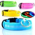 Collar de perro de nailon para mascotas luz LED seguridad nocturna brillante suministros para mascotas Collar de perro LED gato accesorios para perros pequeños collares LED