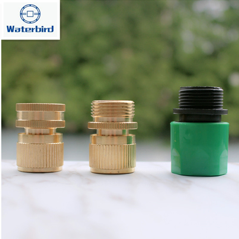 5pcs/pack 3/4inch Dn20 Thread Quick Connector Garden Water Connector Without Stop Valve Hose Connector