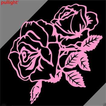 Car Roses Flowers Trunk Side Fender Decals Vinyl Graphics Sticker image