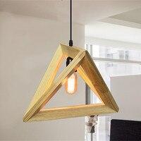 Vintage drewno wisiorek światło kryty LED nowoczesna lampa restauracja w stylu nordyckim bar kawiarnia jadalnia sufit pokoju oświetlenie wiszące oprawa w Wiszące lampki od Lampy i oświetlenie na