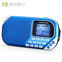 SHIDU S228 스테레오 디지털 스피커 MP3 플레이어 휴대용 오디오 스피커 FM 라디오 LCD 화면
