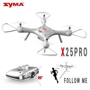 SYMA X25 PRO X25PRO GPS RC Drone Wifi FPV regulowana kamera HD 720 P quadrocoptera 2.4G 6 osi RC helikopter's postawy polityczne w H502S MJX BUGS 2