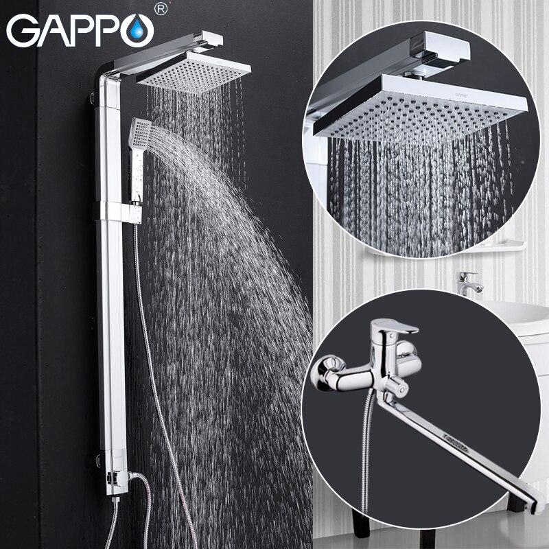 GAPPO robinet de douche précipitations baignoire robinets de douche mitigeur en laiton robinet de la baignoire mur montage set de douche