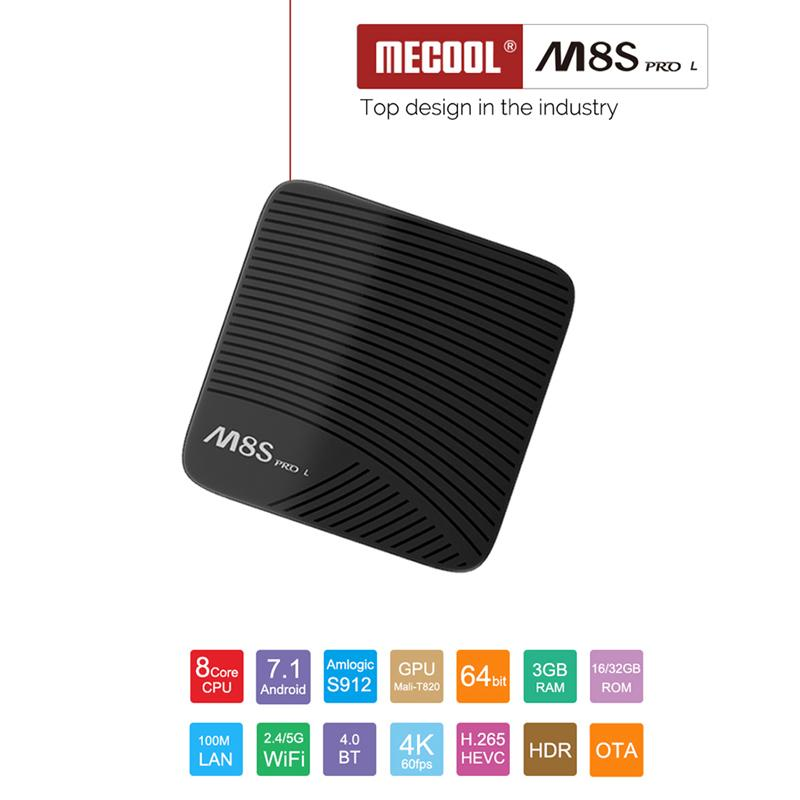 Mecool M8S PRO L Online 4K Playback Android 7.1 M8S PRO L Network Set-top Box TV Box Voice version 3GB RAM 16/32GB ROM светодиодная лента philips hue lightstrips plus 1m