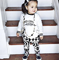 New 2017 Spring Clothes For Baby Girls Clothing Suits (Long Sleeve T-shirt+Pants)/Set Cotton Baby Girls Clothes Sets CC365-CGR3