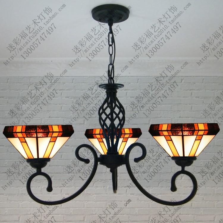 European Mediterranean Tiffany Retro Pendant Light Hallway Cozy For Dining Room Bedroom