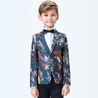 5 pieces Vest+pants+shirts Formal Boys Suits Sets Jacket Single Breasted Regular Elastic Waist Wholesale price size 110 160cm