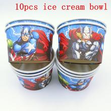 10PCS/LOT AVENGERS ICE CREAM CUPS KIDS BIRTHDAY PARTY SUPPLIES BOWLS WHOLESALE