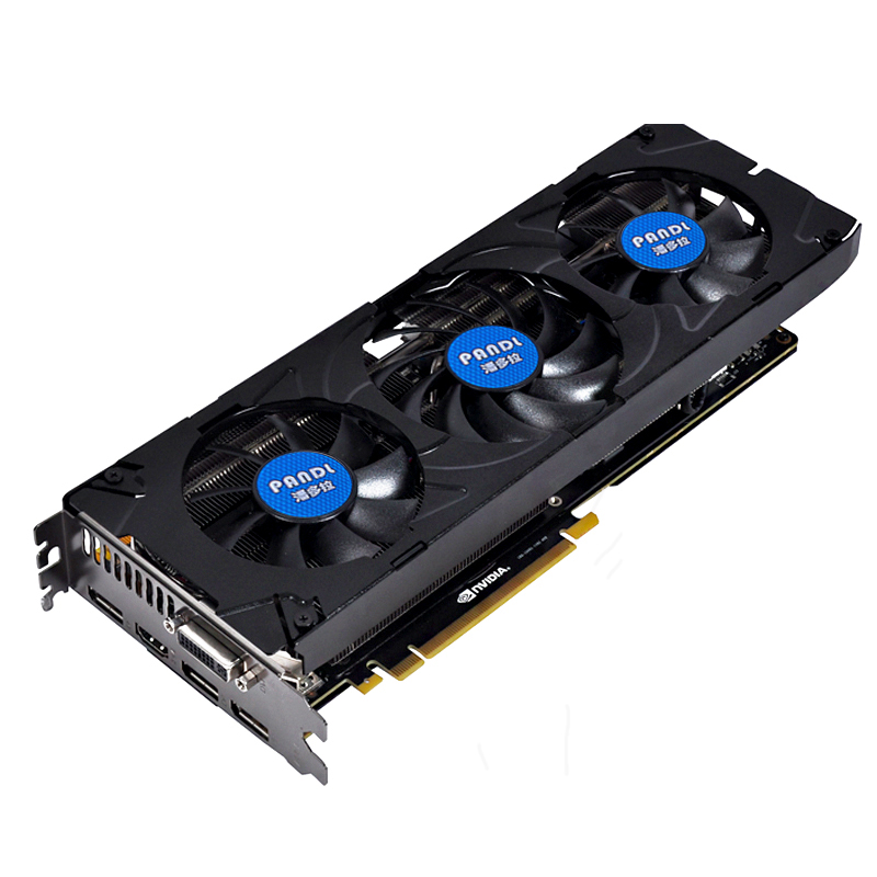 PANOLA high end Nvidia GTX980 video card 3 fans GTX980 4G DDR5 gaming graphics card DirectX12 2048 shaders HDMI/DP/2*DVI output