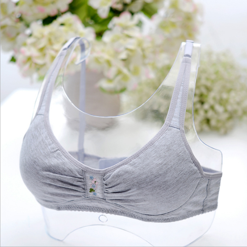 Teenage Girls Underwear Children's Training Bras For Child Young Girl Tank Tops Solid Soft Cotton Thin Small Bra 12~18 Year Old