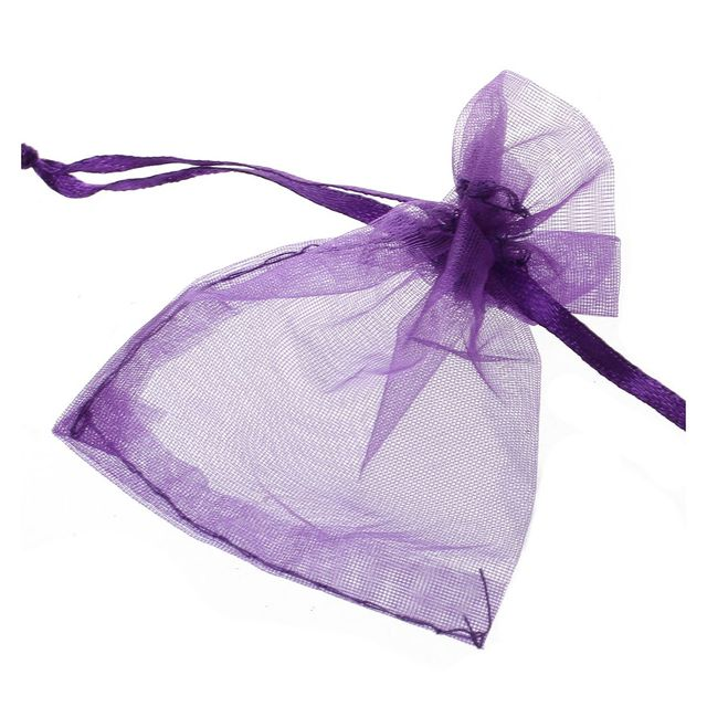 Alim 100 Pcs Organza Wedding Favour Bags Jewellery Pouches Purple