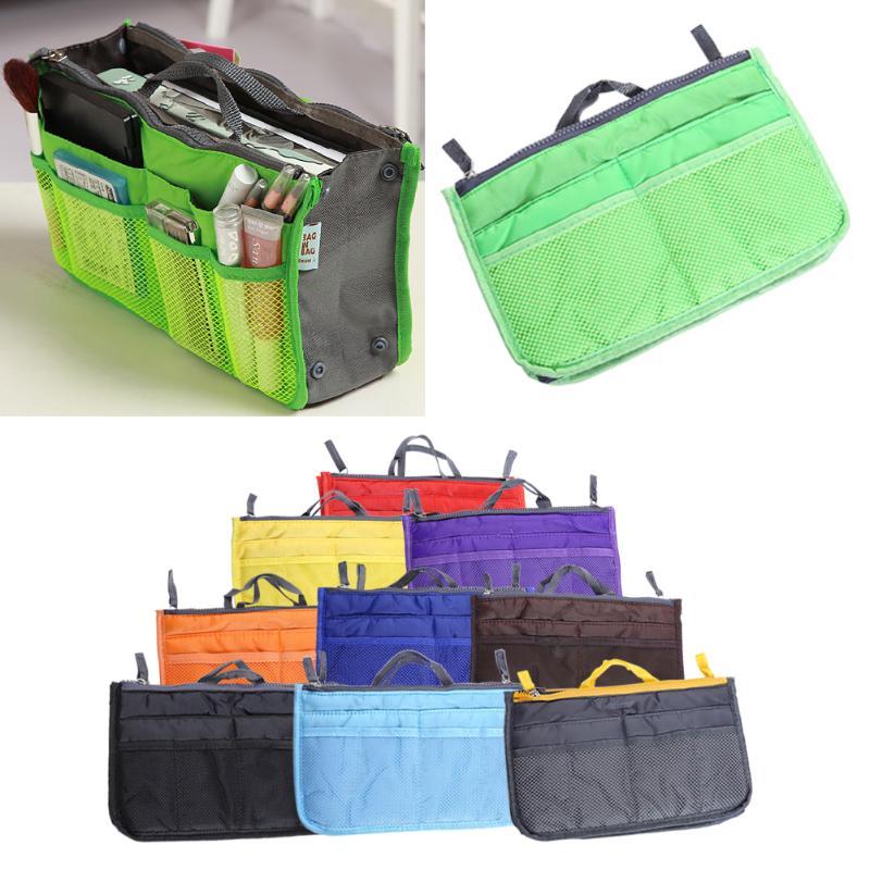 9 Colors Organizer Bag Multi Functional Make Up Bag Cosmetic Bags Storage Women Men Casual Travel Bag Makeup Handbag