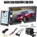 1080 P 7 Polegadas 2 DIN Tela de Toque Digital TFT MP5 Player Suporte Bluetooth USB Áudio Do Carro De Rádio Estéreo FM + Câmera de Visão traseira